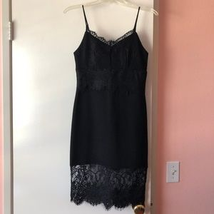 SOCIALITE - Black lace spaghetti dress (Size XS)